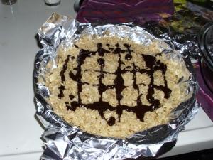 Rice crispie a la drizzle
