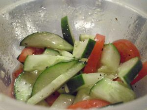 Cuke and tomato salad